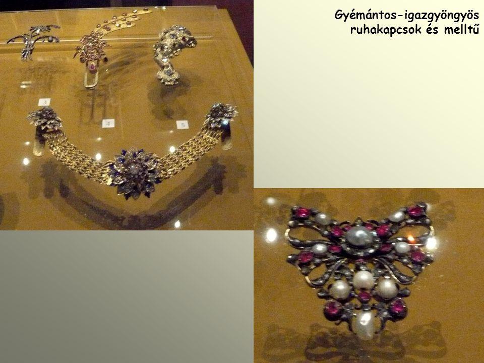 Gyémántos-igazgyöngyös ruhakapcsok és melltű
