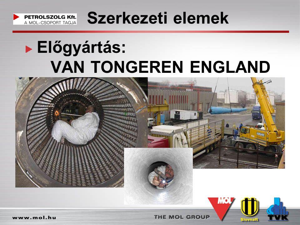 Szerkezeti elemek Előgyártás: VAN TONGEREN ENGLAND