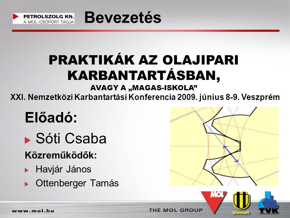 Bevezetés Előadó: Sóti Csaba