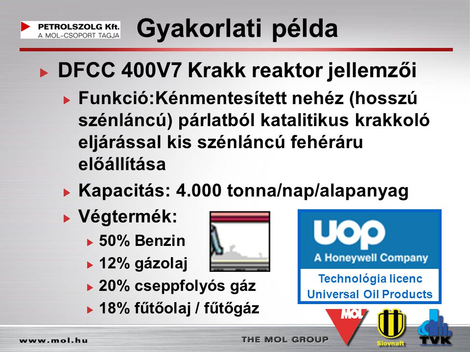 Technológia licenc Universal Oil Products