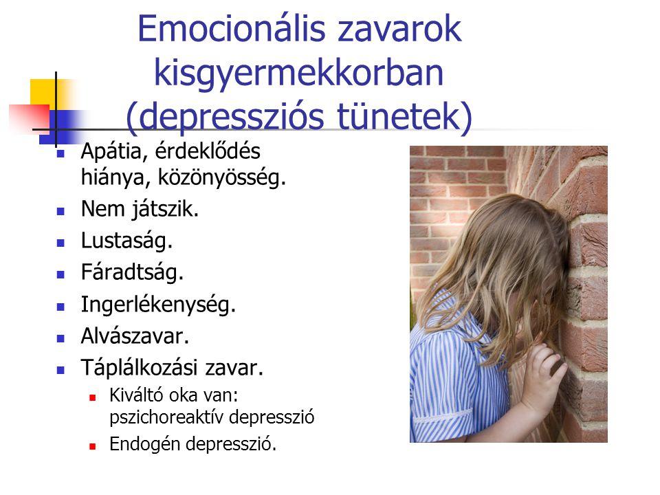 Emocionális zavarok kisgyermekkorban (depressziós tünetek)