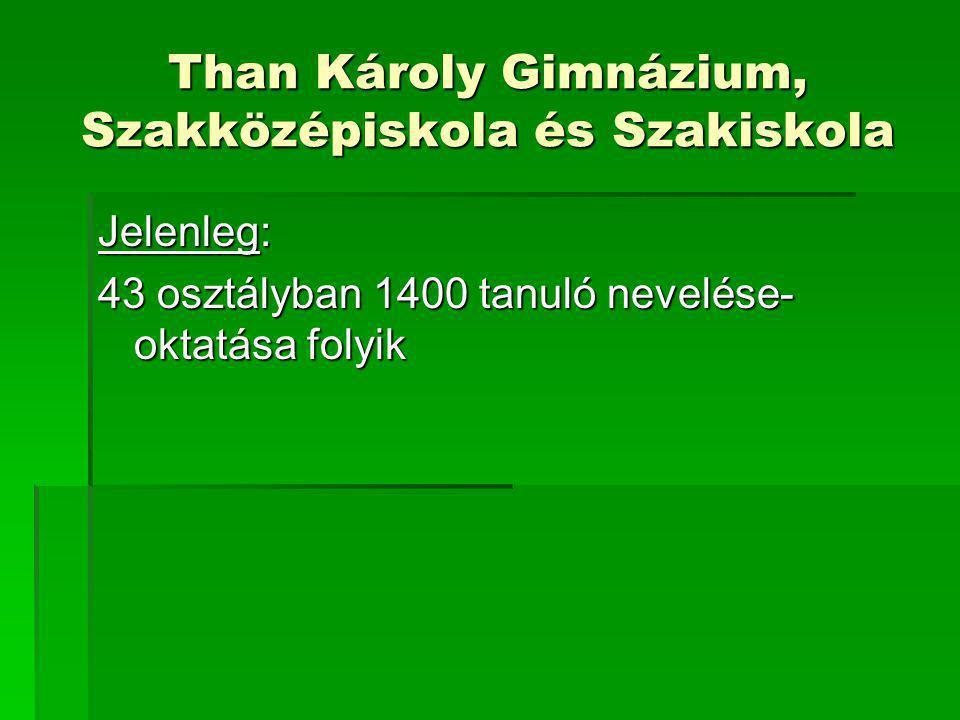 Than Károly Gimnázium, Szakközépiskola és Szakiskola