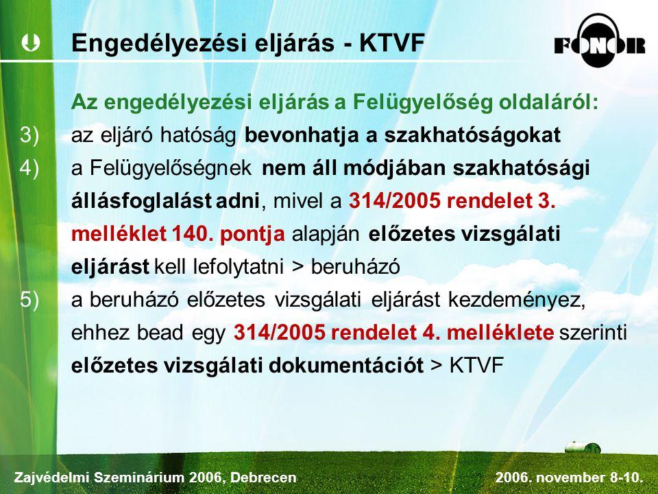 Engedélyezési eljárás - KTVF