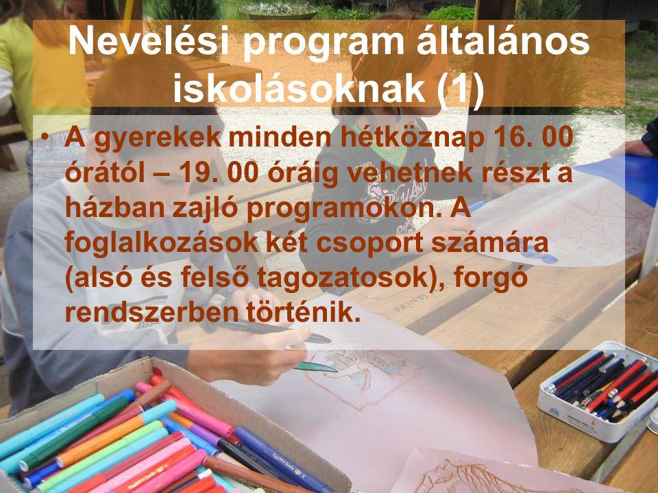 Nevelési program általános iskolásoknak (1)