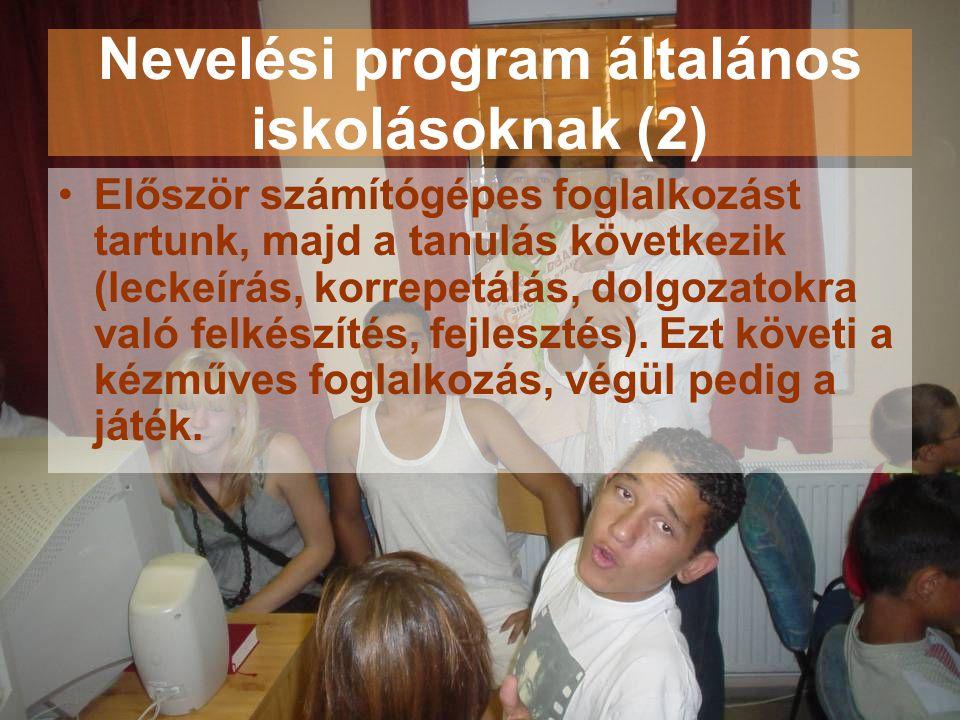 Nevelési program általános iskolásoknak (2)
