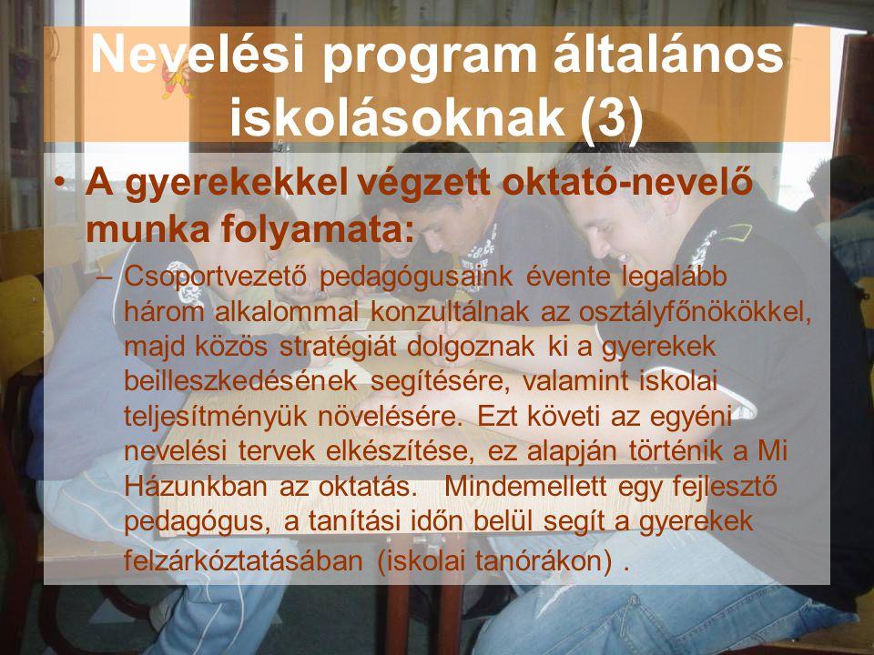 Nevelési program általános iskolásoknak (3)