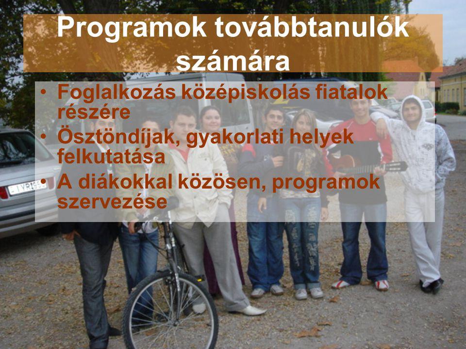 Programok továbbtanulók számára