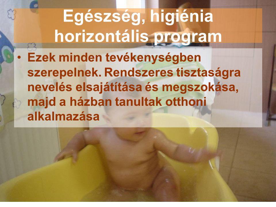 Egészség, higiénia horizontális program