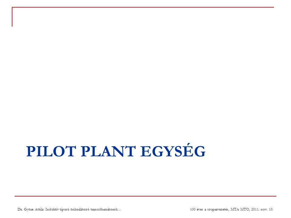 PILOT PLANT EGYSÉG Dr.