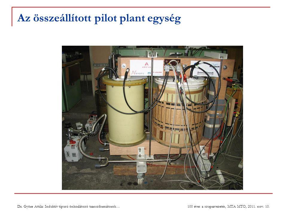 Az összeállított pilot plant egység