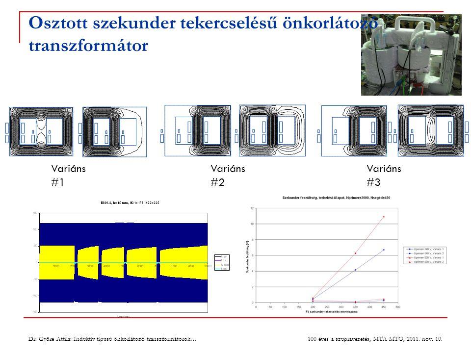 Osztott szekunder tekercselésű önkorlátozó transzformátor