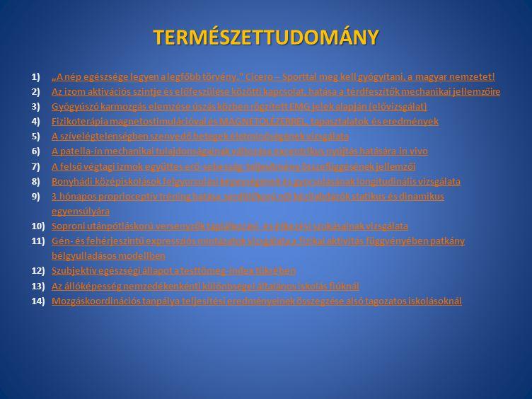 TERMÉSZETTUDOMÁNY