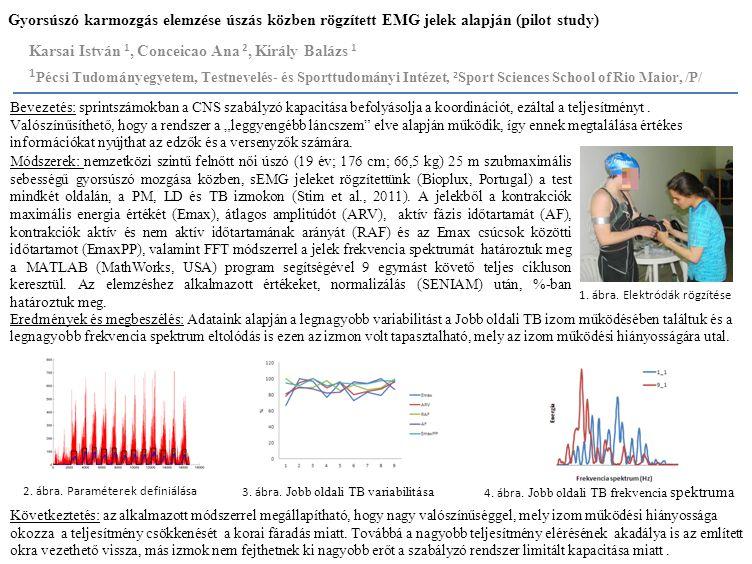 Gyorsúszó karmozgás elemzése úszás közben rögzített EMG jelek alapján (pilot study)