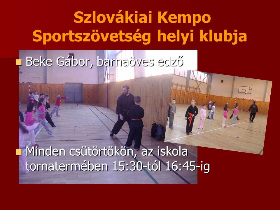 Szlovákiai Kempo Sportszövetség helyi klubja