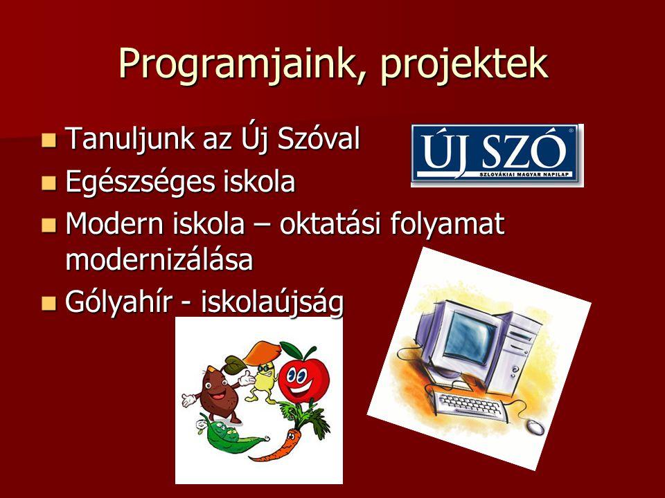 Programjaink, projektek