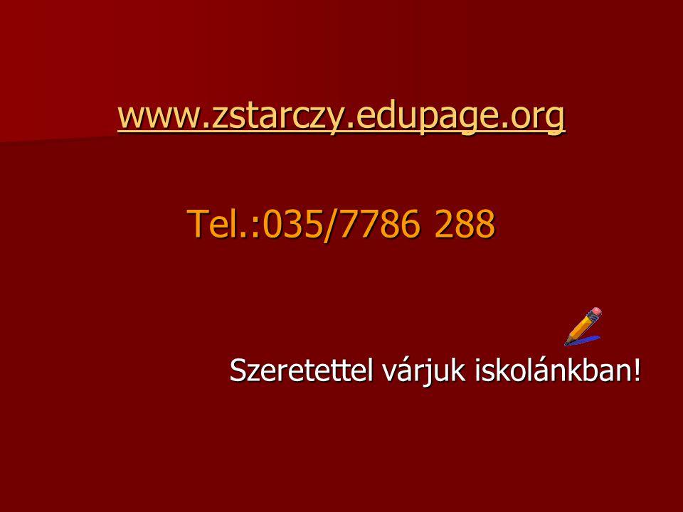 www.zstarczy.edupage.org Tel.:035/7786 288
