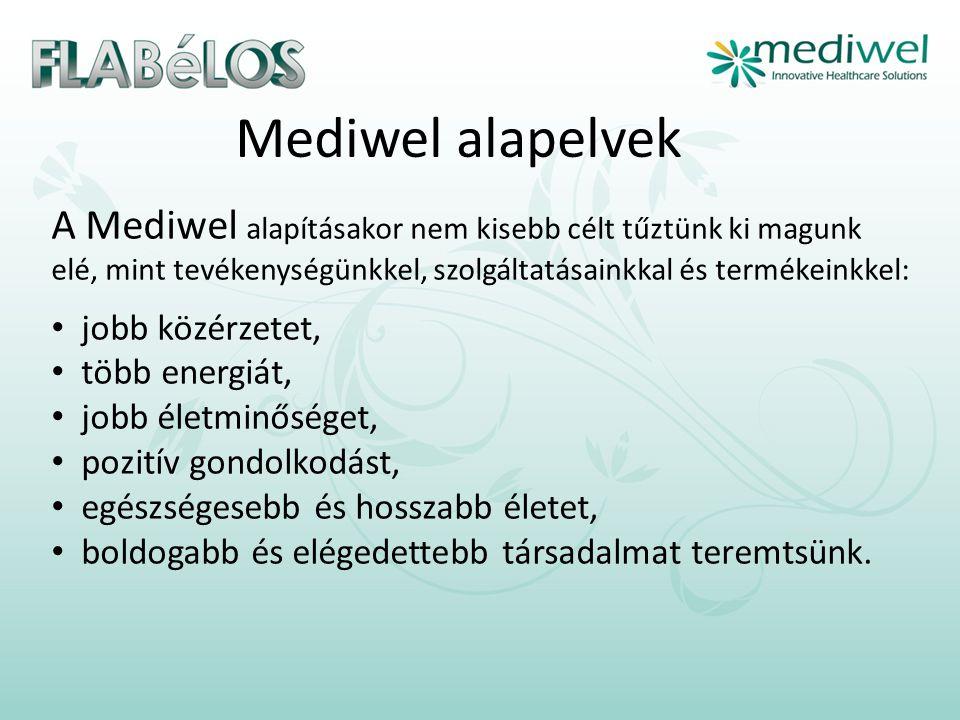 Mediwel alapelvek A Mediwel alapításakor nem kisebb célt tűztünk ki magunk elé, mint tevékenységünkkel, szolgáltatásainkkal és termékeinkkel: