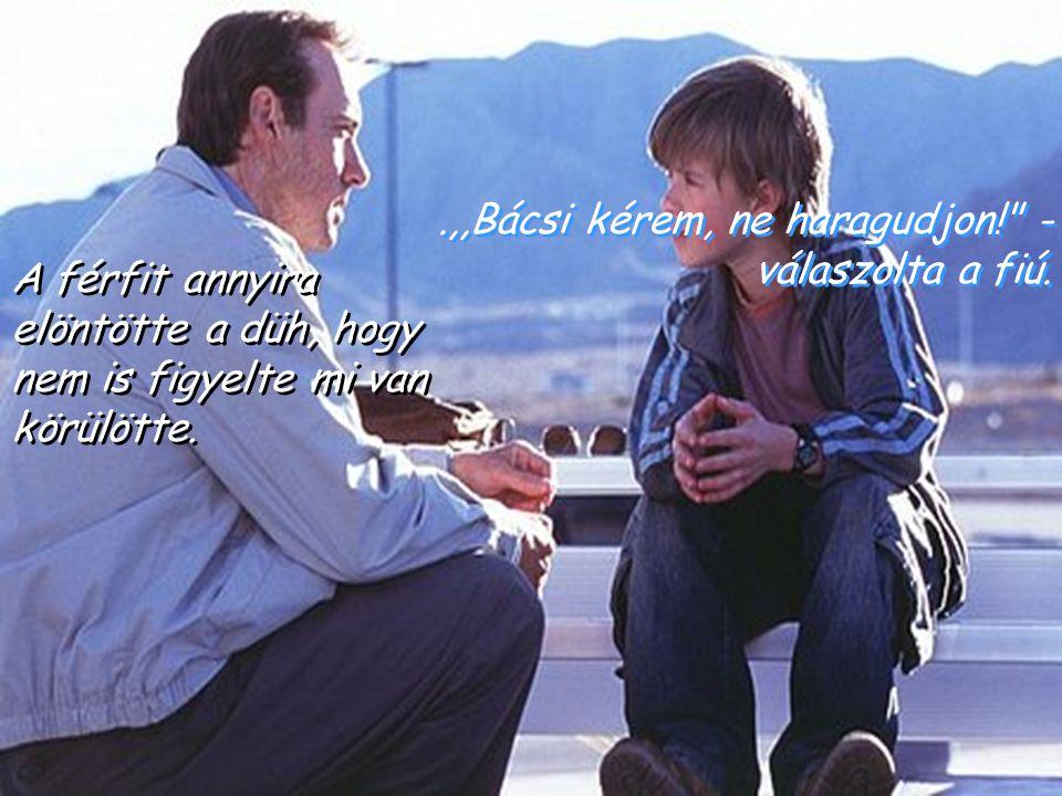 .,,Bácsi kérem, ne haragudjon! - válaszolta a fiú.