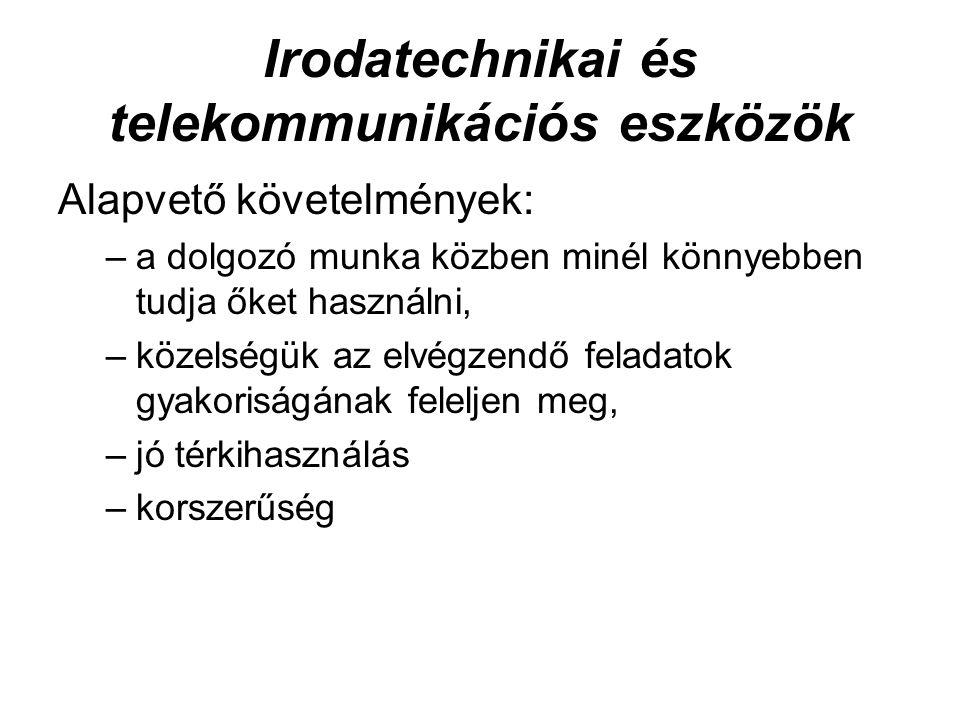 Irodatechnikai és telekommunikációs eszközök