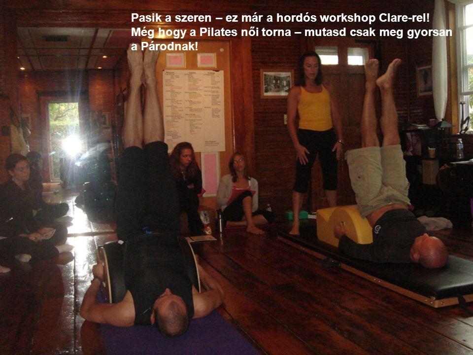 Pasik a szeren – ez már a hordós workshop Clare-rel