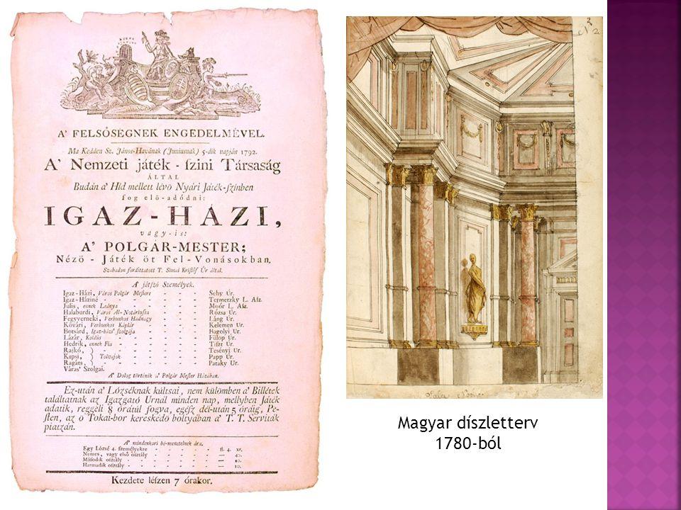 Magyar díszletterv 1780-ból