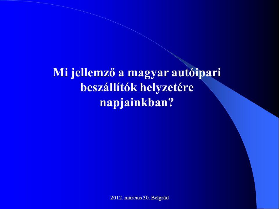 Mi jellemző a magyar autóipari beszállítók helyzetére napjainkban
