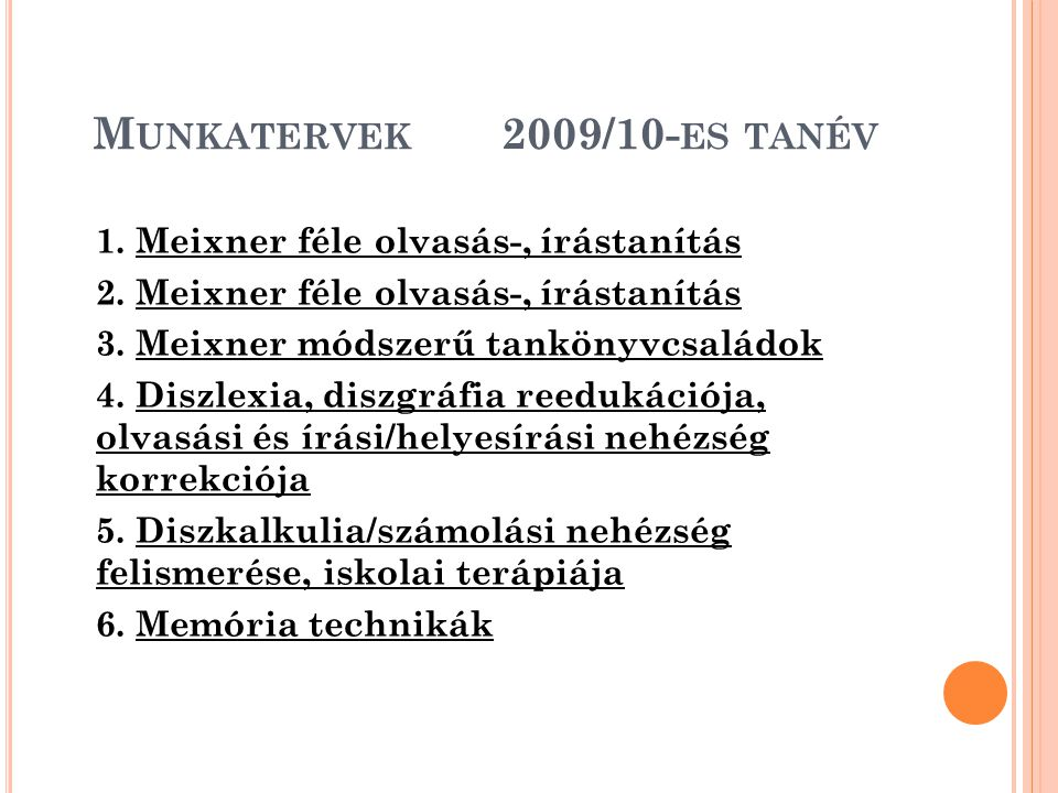 Munkatervek 2009/10-es tanév