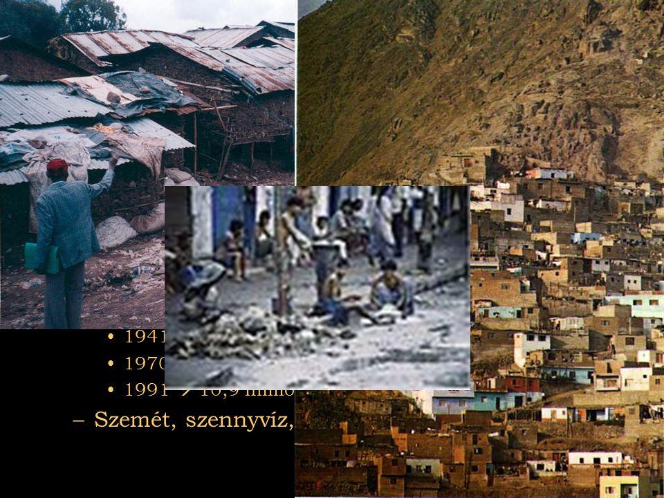 Városok Dél-Amerika: Peru fővárosa Lima Ázsia: Calcutta