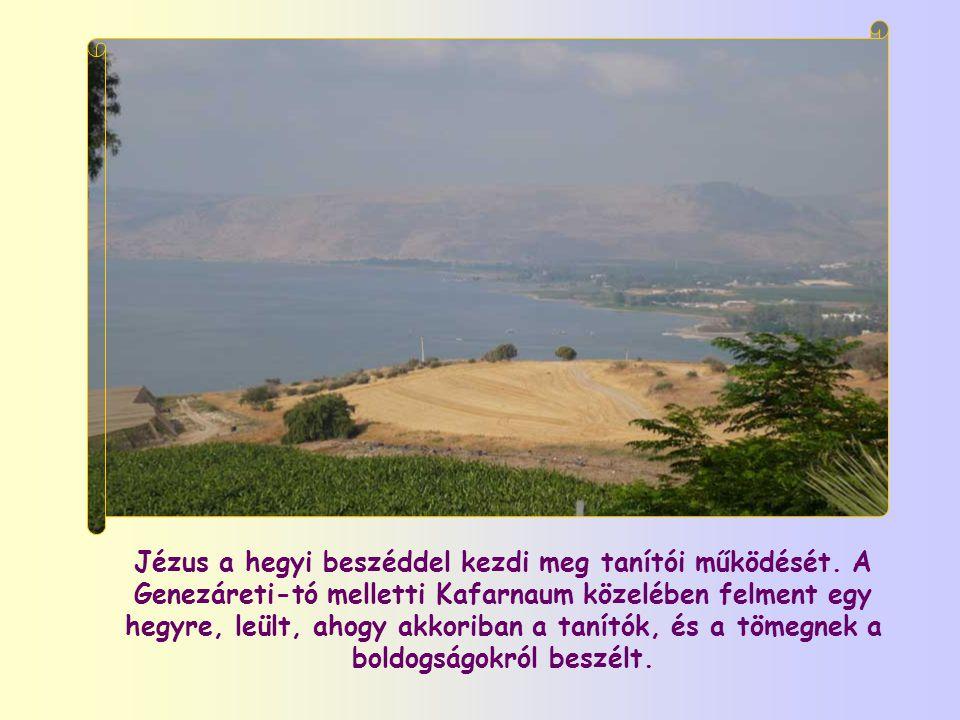 Jézus a hegyi beszéddel kezdi meg tanítói működését