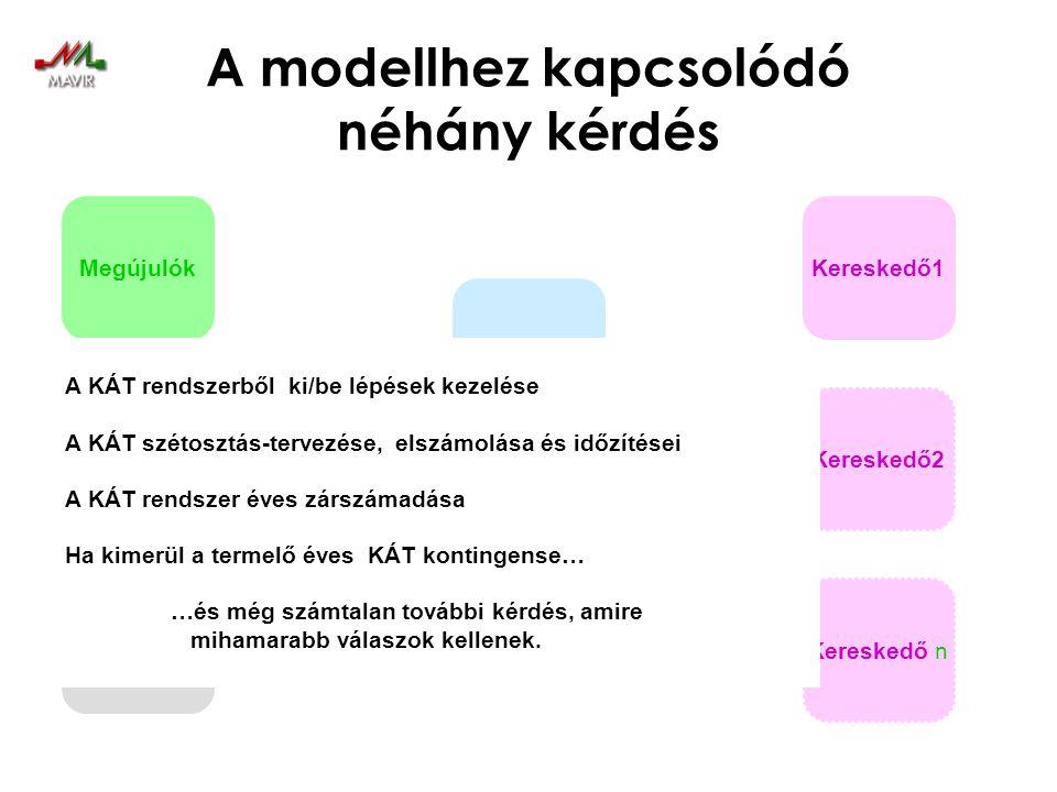 A modellhez kapcsolódó néhány kérdés