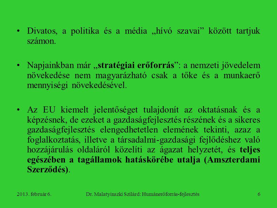 Dr. Malatyinszki Szilárd: Humánerőforrás-fejlesztés