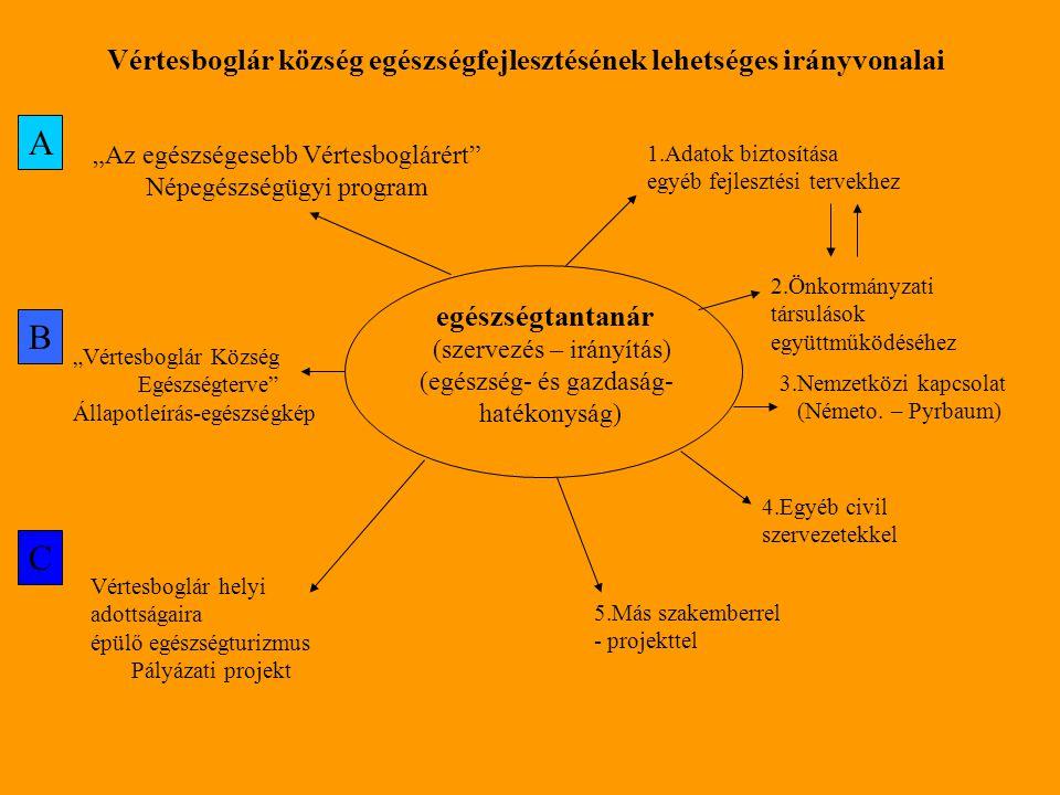 Vértesboglár község egészségfejlesztésének lehetséges irányvonalai