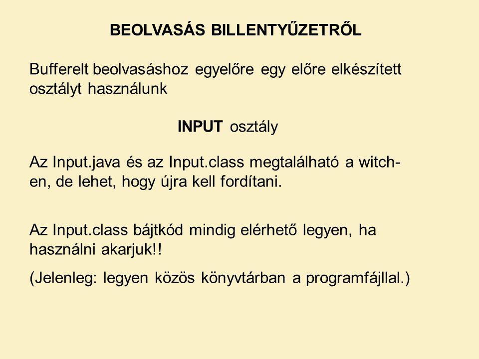 BEOLVASÁS BILLENTYŰZETRŐL