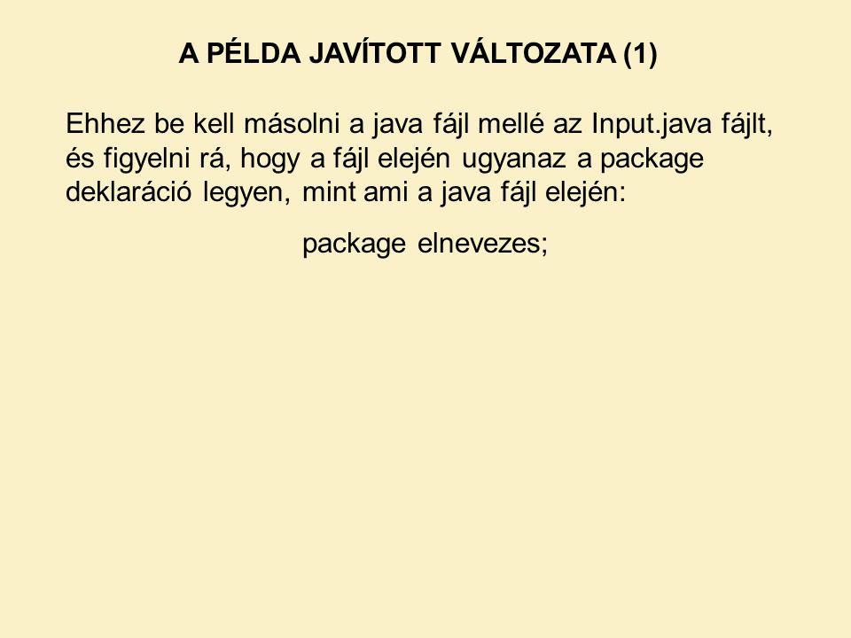 A PÉLDA JAVÍTOTT VÁLTOZATA (1)