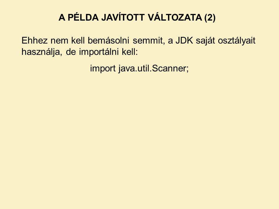 A PÉLDA JAVÍTOTT VÁLTOZATA (2)