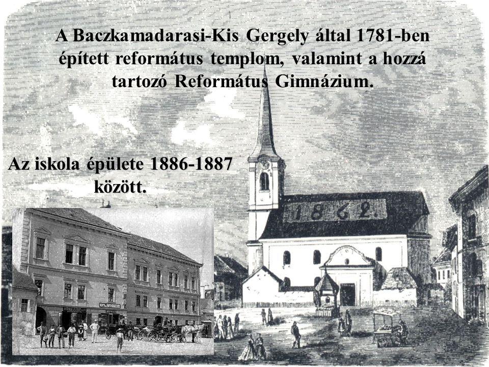 Az iskola épülete 1886-1887 között.