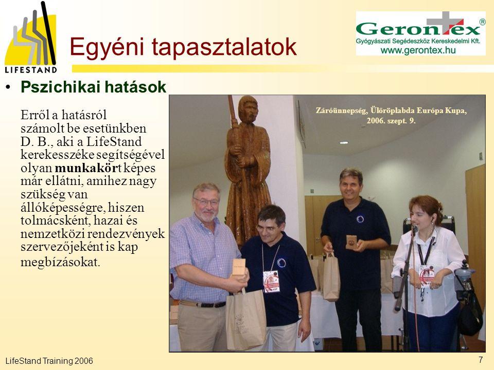 Záróünnepség, Ülőröplabda Európa Kupa, 2006. szept. 9.