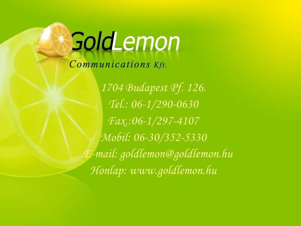 Honlap: www.goldlemon.hu