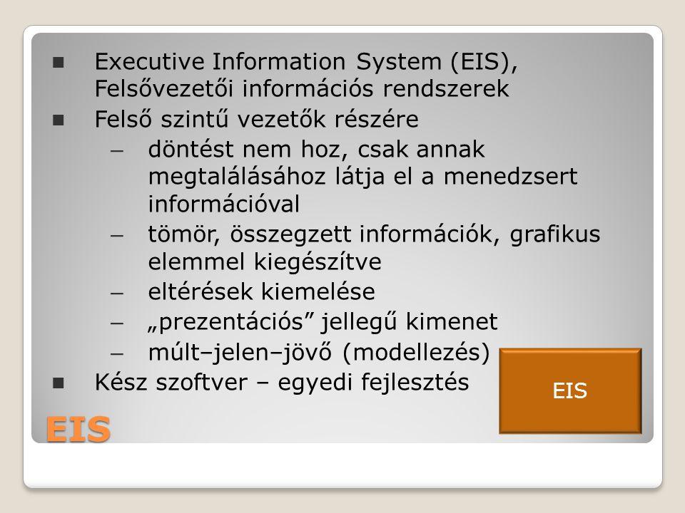 Executive Information System (EIS), Felsővezetői információs rendszerek