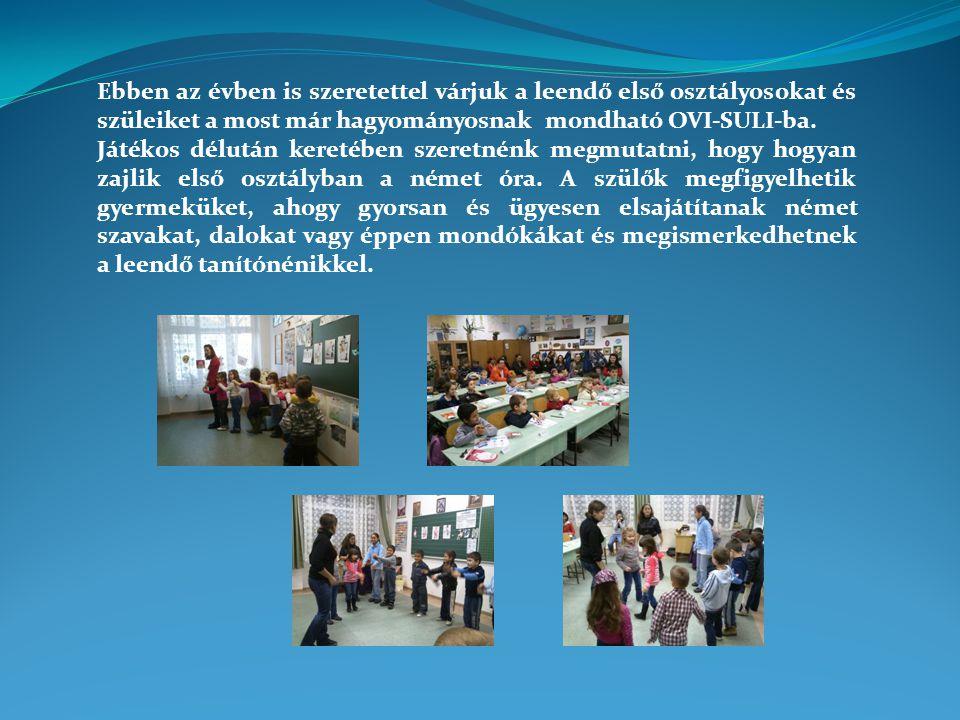 Ebben az évben is szeretettel várjuk a leendő első osztályosokat és szüleiket a most már hagyományosnak mondható OVI-SULI-ba.