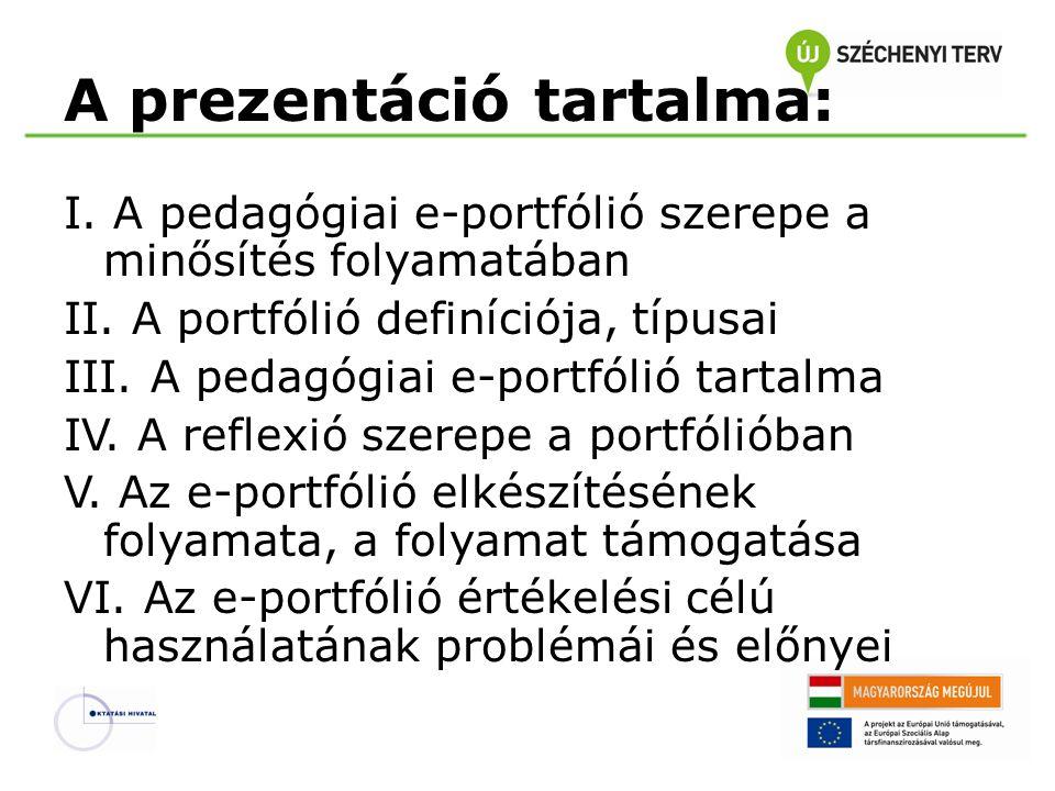 A prezentáció tartalma: