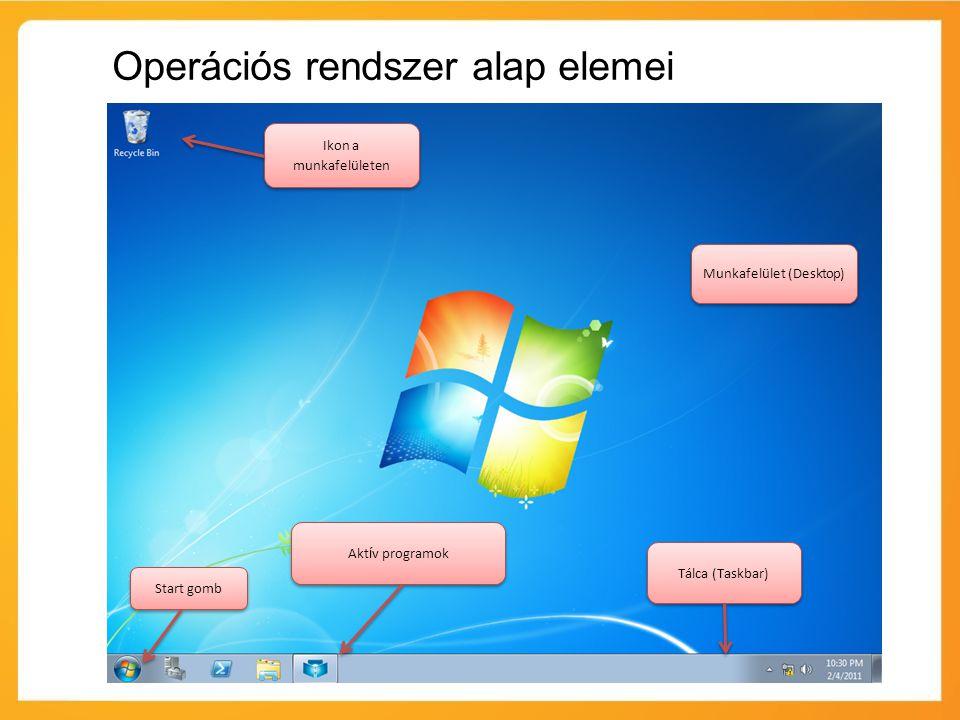 Operációs rendszer alap elemei