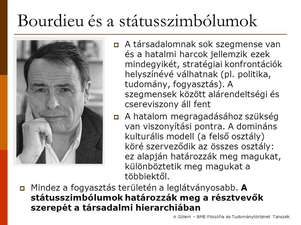 Bourdieu és a státusszimbólumok