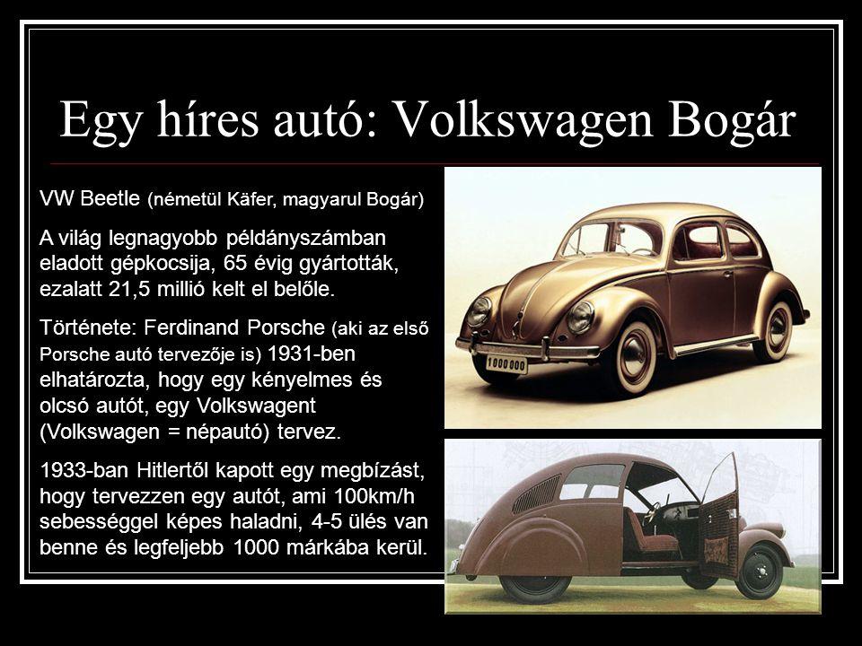 Egy híres autó: Volkswagen Bogár