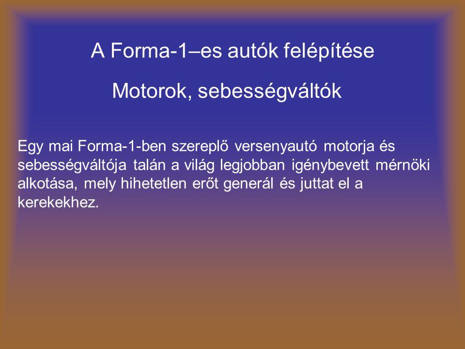 A Forma-1–es autók felépítése