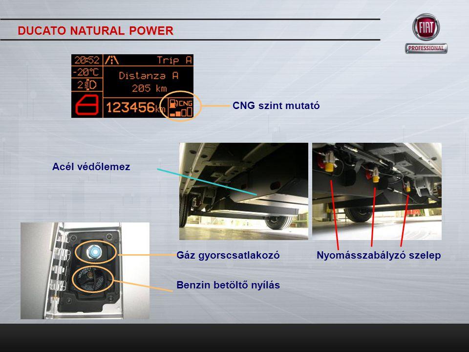 DUCATO NATURAL POWER CNG szint mutató Acél védőlemez
