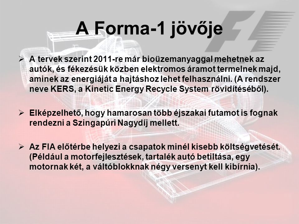 A Forma-1 jövője