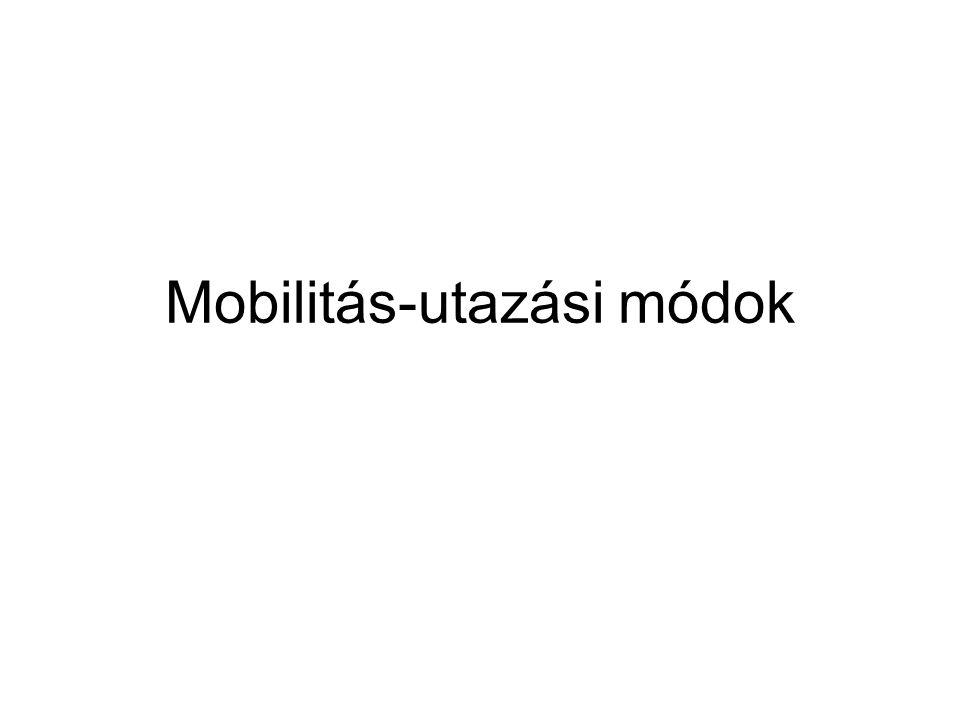 Mobilitás-utazási módok