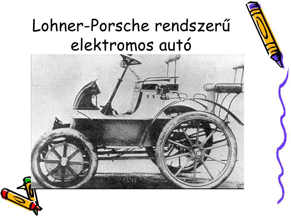 Lohner-Porsche rendszerű elektromos autó