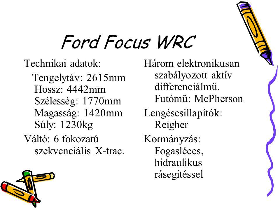 Ford Focus WRC Technikai adatok: